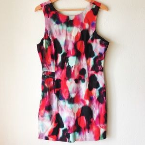 French Connection multi-color spray paint dress